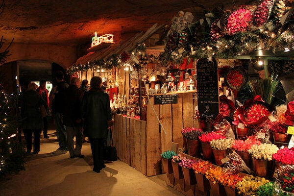 Mercado navideño en Valkenburg, Holanda