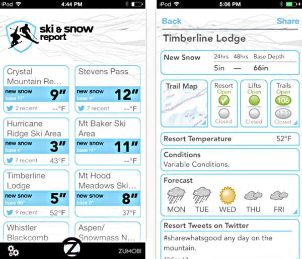 Ski and Snow Report en el App Store