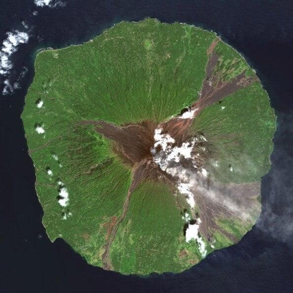 Manam volcan, Madang, en Papouasie-Nouvelle-Guinée