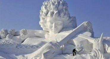 18 magníficas esculturas de nieve