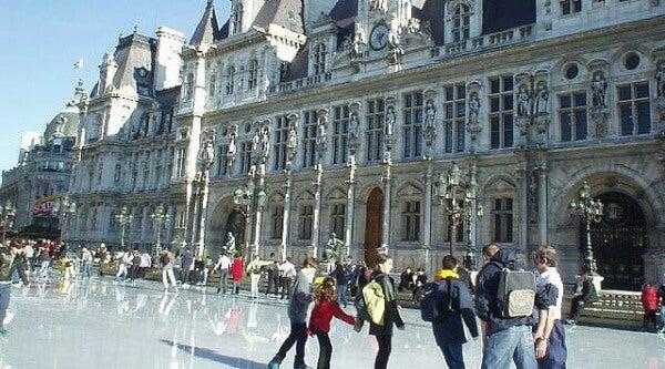 patinaje Hôtel de Ville, París
