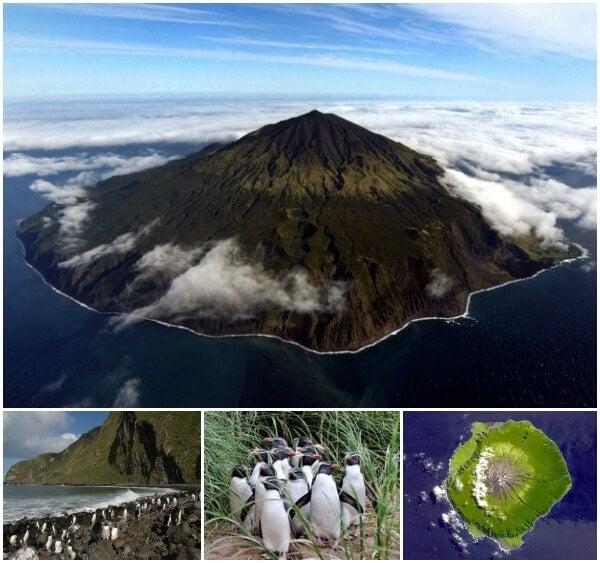 Tristan da Cunha Island collage