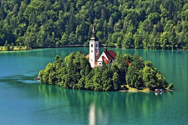 Isla de Bled en Eslovenia