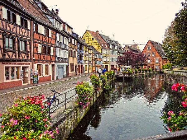 Canales de Colmar en Francia