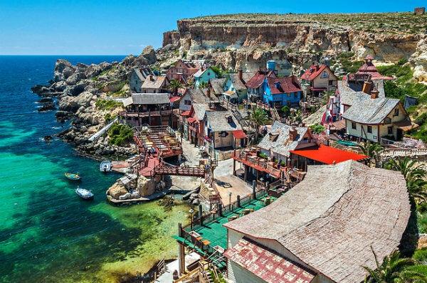 Pueblo de Popeye en Malta