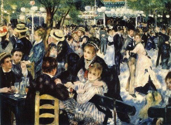Baile en el Moulin de la Galette, Renoir