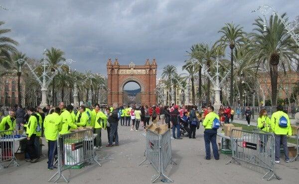 Arco del Triunfo eDreams Mitja Marato Barcelona