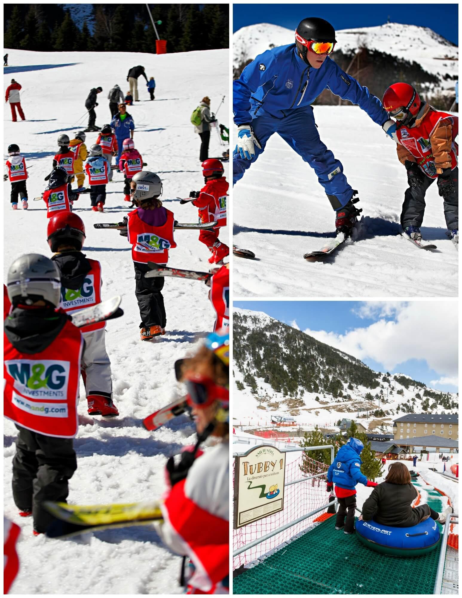 esqui y familia