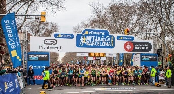 eDreams Mitja Marato Barcelona salida
