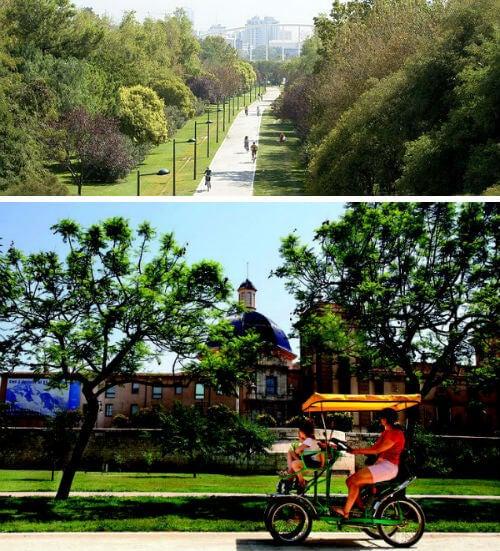 9 lugares que visitar en Valencia. jardines del turia valencia