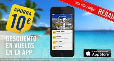Consigue 10€ de descuento en vuelos con la App de eDreams