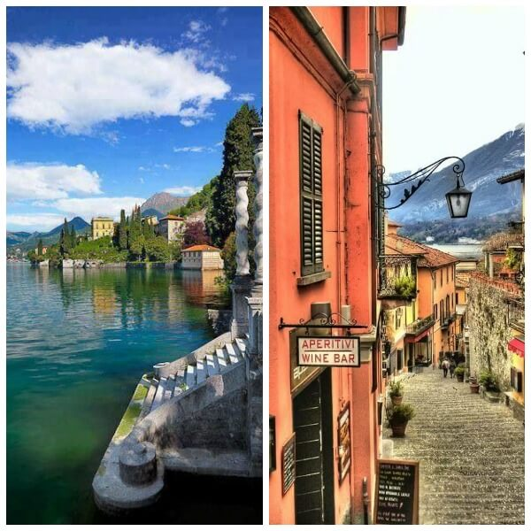lago como Collage