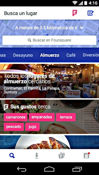 foursquare apps movil
