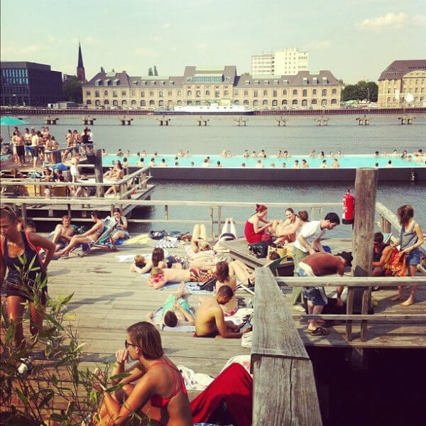 The Badeschiff Berlin pool