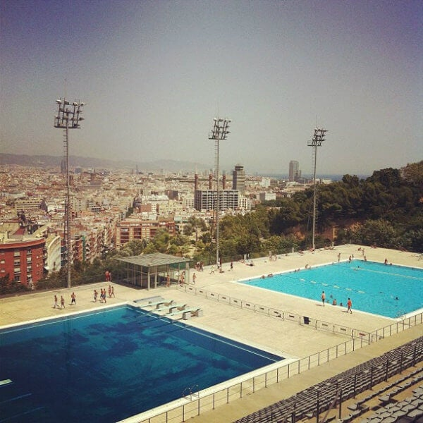 olympic diving pool montjuic barcelona