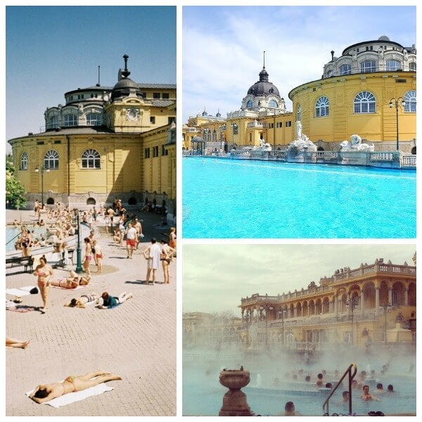 piscinas de budapest collage
