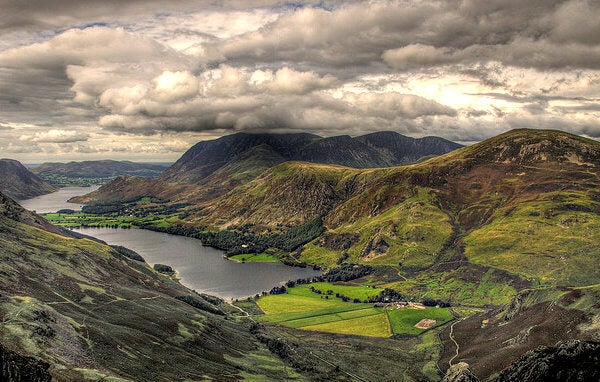 Lake District is a romantic landscape of valleys.