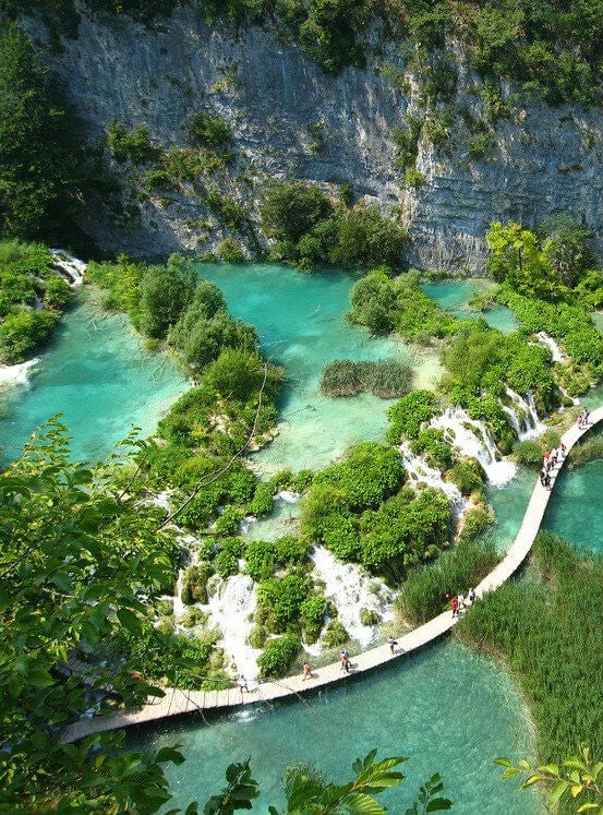 The lakes of Plitvice Lakes National Park.