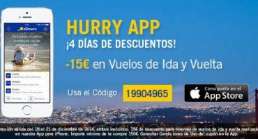4 días de descuento con la App de eDreams, ¡aprovéchalos!