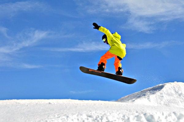 esquiador en sierra nevada