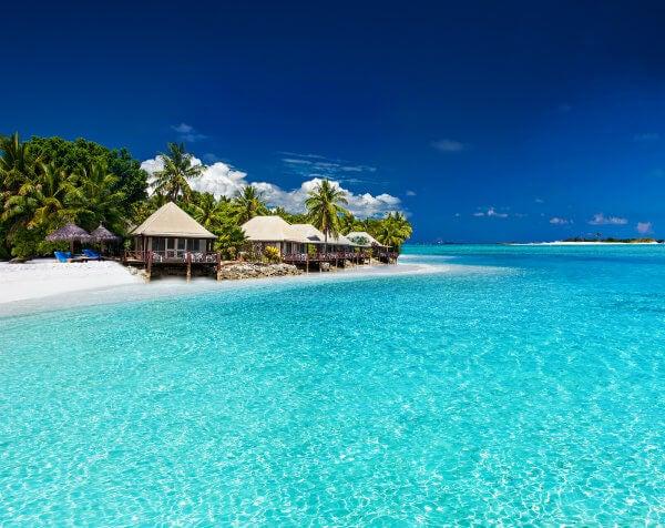 cabañas en la playa de fiji