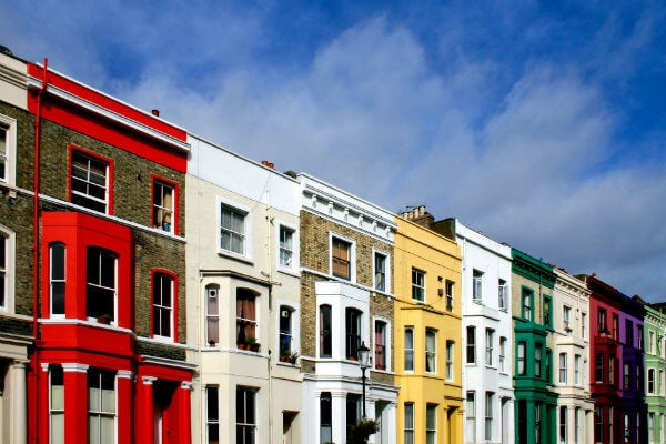 casas de colores en Londres