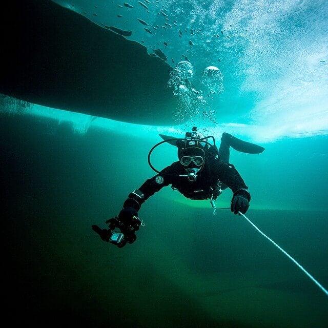 immersione nel ghiaccio