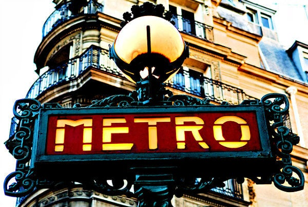 cartel metro de paris