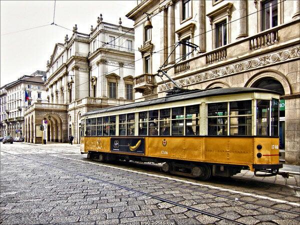 tranvía de milan