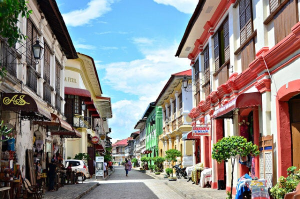 casas de colores de vigan, en filipinas