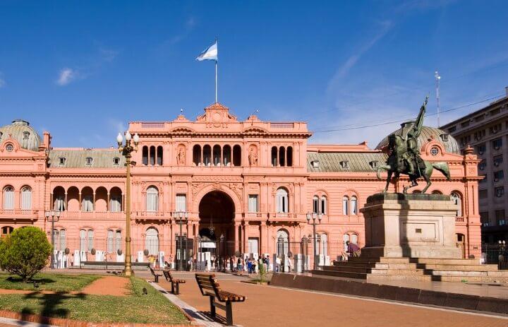 Casa Rosada en Buenos Aires, la sede del poder ejecutivo de Argentina