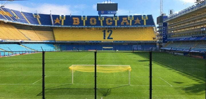 Estadio Alberto J. Armando, más conocido como La Bombonera, propiedad del propiedad del Club Atlético Boca Juniors
