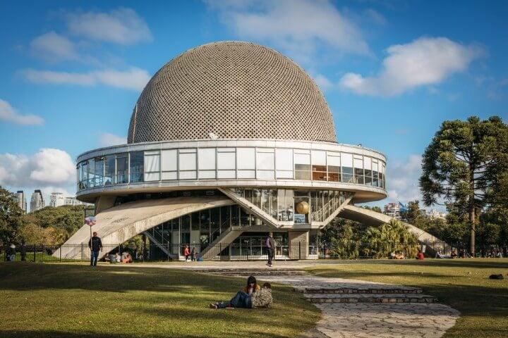 Planetario Galileo Galilei dentro del Parque 3 de Febrero en Buenos Aires