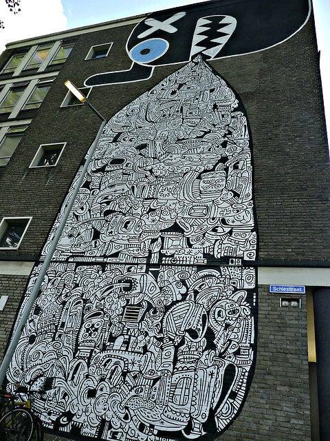 grafiti rotterdam