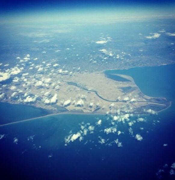 Delta desde las alturas. Foto de @pitymil