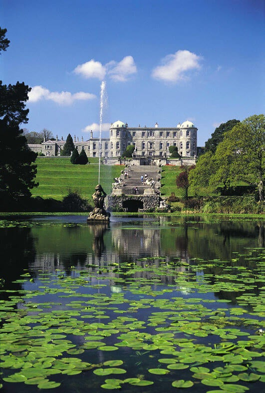 lago de Powerscourt en dublin