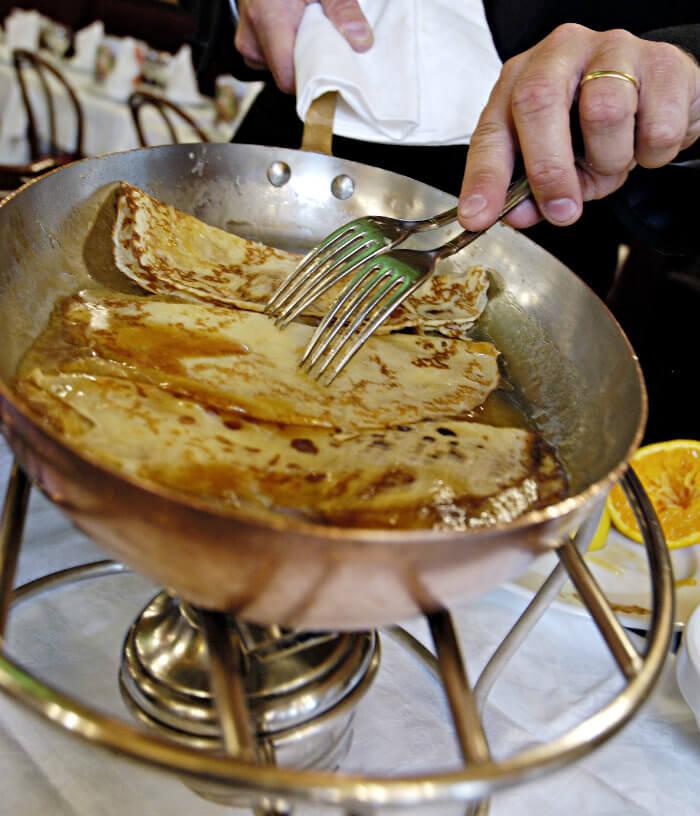 crepes suzettes SUCRE - brasserie flo