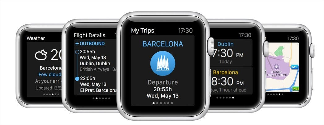 aplicación de eDreams para Apple Watch