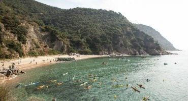 600 nadadores participaron en la IV MARNATON eDreams Sant Feliu de Guíxols