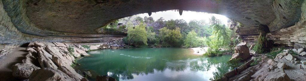 Las 20 piscinas naturales más originales del mundo. Hasmilton Poool texas