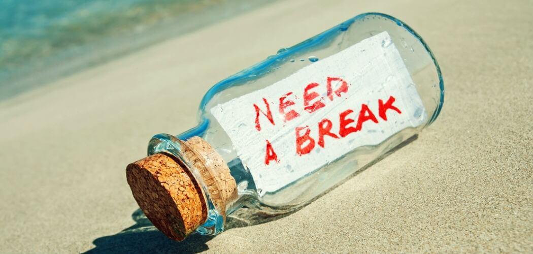 Necesitas vacaciones si...