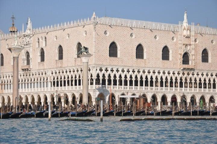 Palacio Ducal de Venecia visto desde el mar