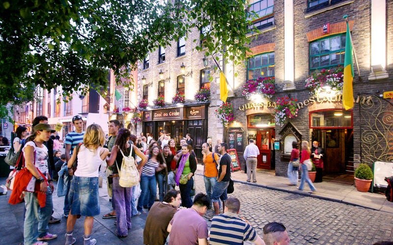 El barrio Temple Bar de Dublín