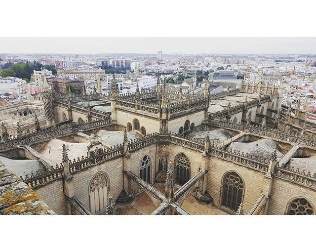 vistas de la catedral de sevilla desde la giralda