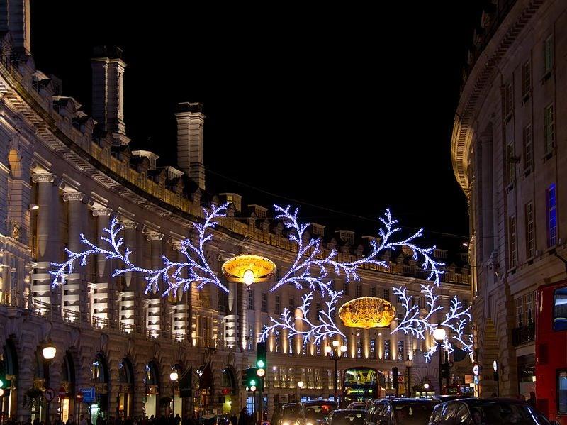 Regent street Luces de Navidad Londres