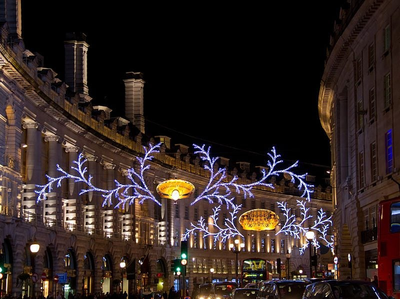 Las luces de Navidad en Regent street, Londres