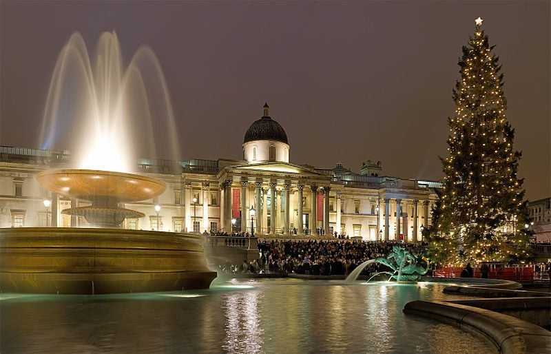 Abete a Trafalgar Square,  Londra