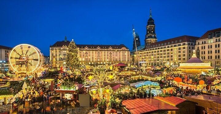 Mercadillo navideño en Dresden, Alemania