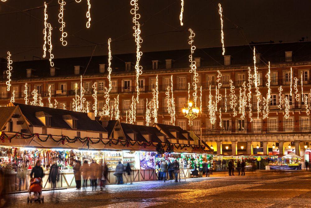 Mercadillo navideño en Madrid