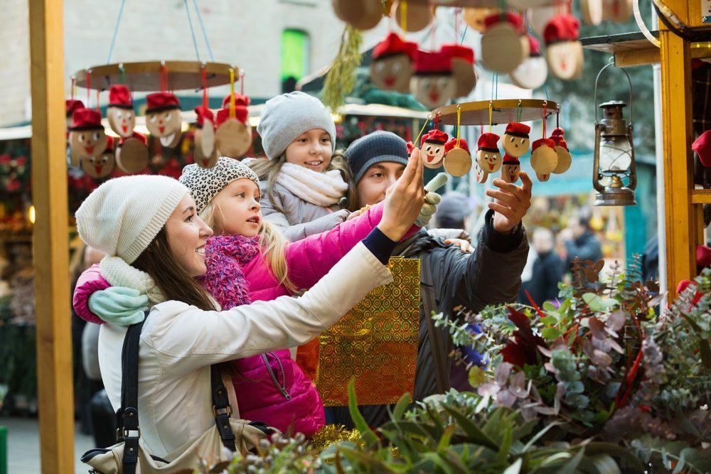 Mercado navideño en Barcelona